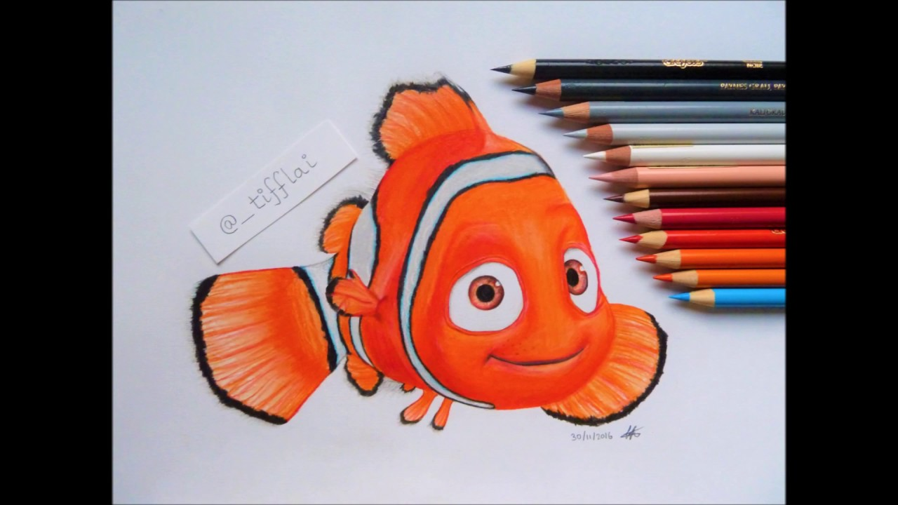 🎨 SPEED DRAWING: Nemo in Finding Nemo/Dory 🐟 - YouTube