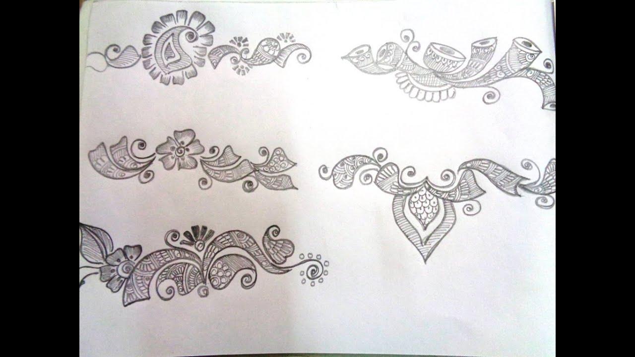 How to draw mehndi basic shapes k28 youtube