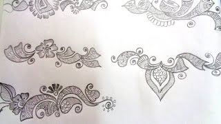 how to draw mehndi basic shapes - K28