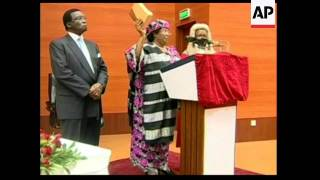 4:3 VP Joyce Banda sworn in as president following death of her predecessor
