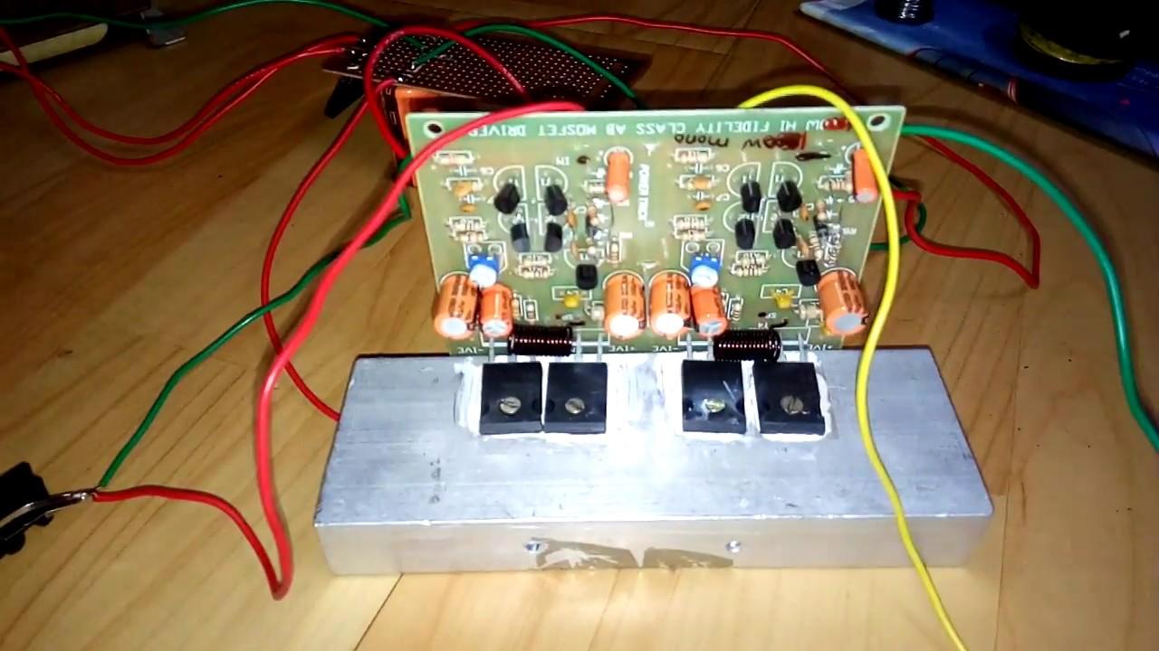 300watt Mosfet Amp Kit Test Youtube