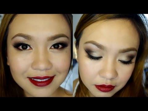 Dark Eyes and Dark Red Lips Tutorial!