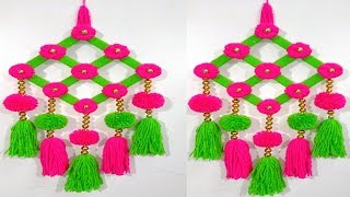 Amazing Woolen Door Hanging Toran How To Make Door Hanging Wall Hanging ideas Wall Hanging Crafts
