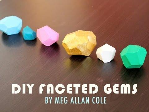 DIY Faceted Gems