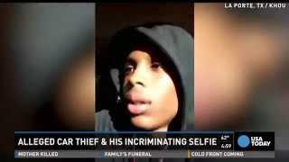Smart one! 17-year-old takes selfie in stolen car