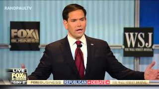 Rand Paul vs. Marco Rubio on wasteful government spending: Fox Business GOP Debate