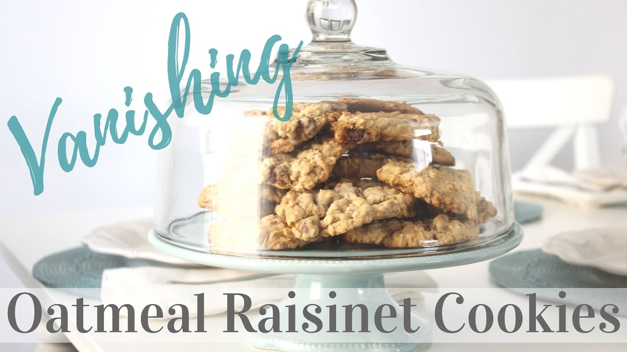 Vanishing Oatmeal Raisinet Cookies Bake With Me Youtube