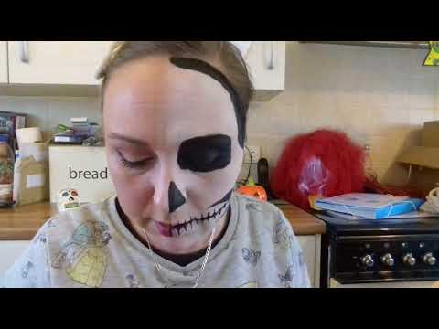 Halloween!! how i do my skull teeth , face painting
