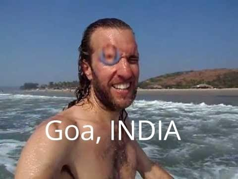 Swimming in the Arabian Sea—Goa, India (Arambol Beach)