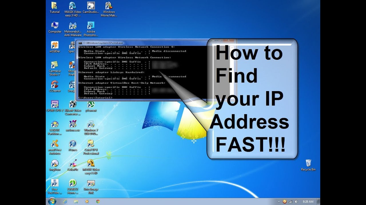 How to find my computers ip address using command prompt