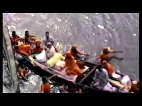 Baba Shrii Shrii Anandamurti Crossing through flooded From Tiljala  to lake garden