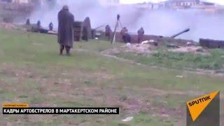 Война в карабахе артиллерия Армении работает по ВС азербайджана