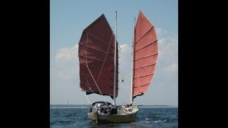 Terrapin #1. A Junk Rigged Sailboat travels in the Canadian Maritimes in 2010