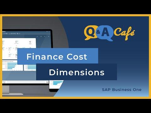Q&A Café: Finance Cost Dimensions in SAP Business One