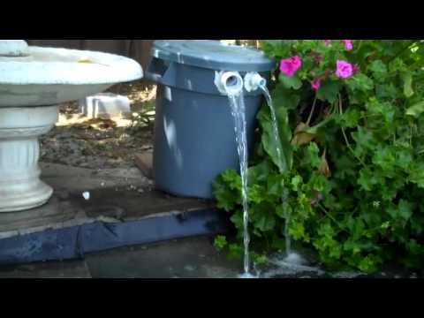 Home made pond filter youtube for Outside pond filter