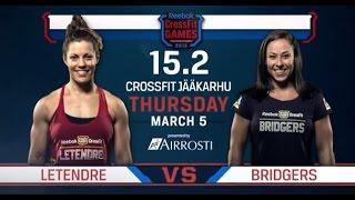 CrossFit Open 15.2 LETENDRE vs BRIDGERS