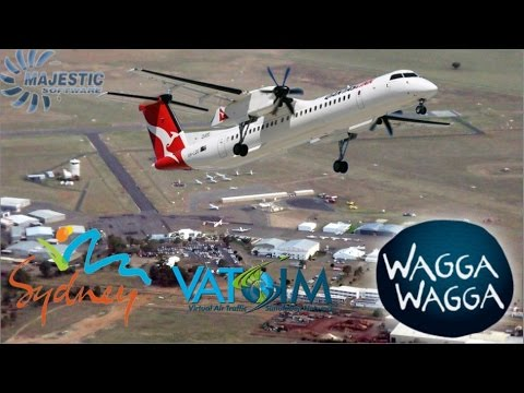 Majestic Software DH8D Q400 Heads To Wagga On Vatsim
