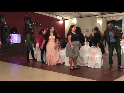 Girls musical chairs game at Kiki's Quince