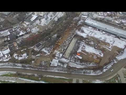 Севастополь. Мыс Хрустальный. 54-й завод. Судно село на мель.