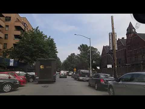 Driving by Crown Heights Brooklyn,New York