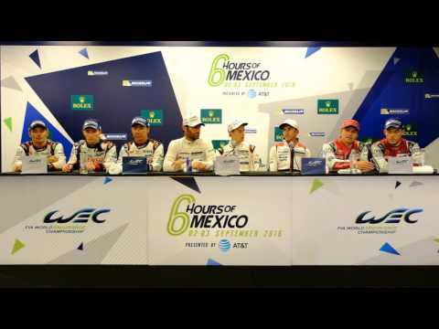 WEC - 2016 WEC 6 Hours of Mexico City - Post-Race press conference