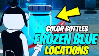 Find Bottles of Frozen Blue in Coral Castle (ALL 3 LOCATIONS) - Fortnite