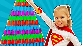 Vitalina play with colored toy cup for children Funny challenge for Play with Paula by Vitalina Life
