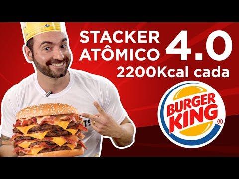 Recorde brasileiro BK Stacker Atômico 4.0 (2200kcal cada)