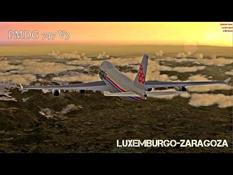 [Prepar3D v3] Estrenamos la reina | Luxemburgo ✈ Zaragoza | PMDG 747 V3 | IVAO ATC