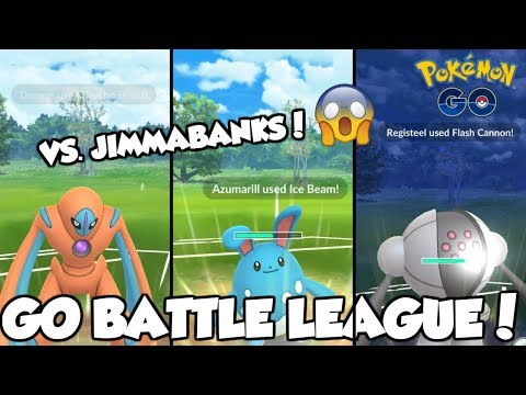 I FACED JIMMABANKS IN THE GO BATTLE LEAGUE! POKEMON GO GREAT LEAGUE MATCHES