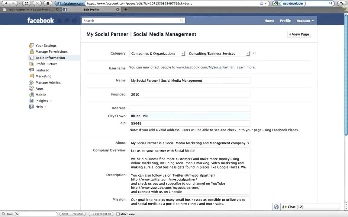 Facebook company profile - How To Add Your Facebook Page As Your Employer On Your Personal Facebook Profile