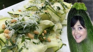 Shaved Raw Zucchini Salad With Basil And Parmesan // Tasty Bit 87