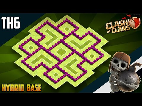 New BEST TH6 HYBRID/TROPHY Base 2019!! COC Town Hall 6 (TH6) Hybrid Base Design - Clash Of Clans