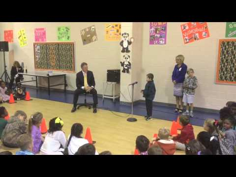 Video: David Perdue Primary students question U.S. Sen. David Perdue