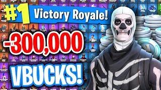 HACKING SKULL TROOPER ACCOUNT WORTH 300,000 VBUCKS ON FORTNITE!!