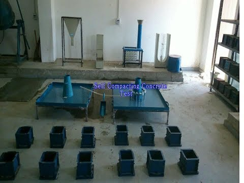All workability test on Self compacted concrete part 1
