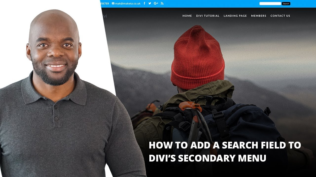 How to Add a Search Field to Divi's Secondary Menu