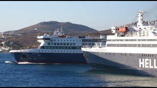 Nissos Rodos & Blue Star Delos - Στο λιμάνι της Πάρου (At the port of Paros)
