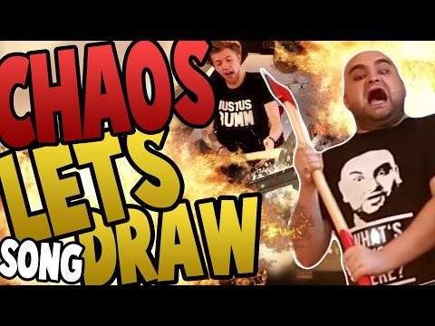 "DIE POLIZEI KOMMT! CHAOS LETS DRAW [Song] ""ft. Taddl, Ardy, Apecrime, iBlali"" (Lukas, der Rapper)"