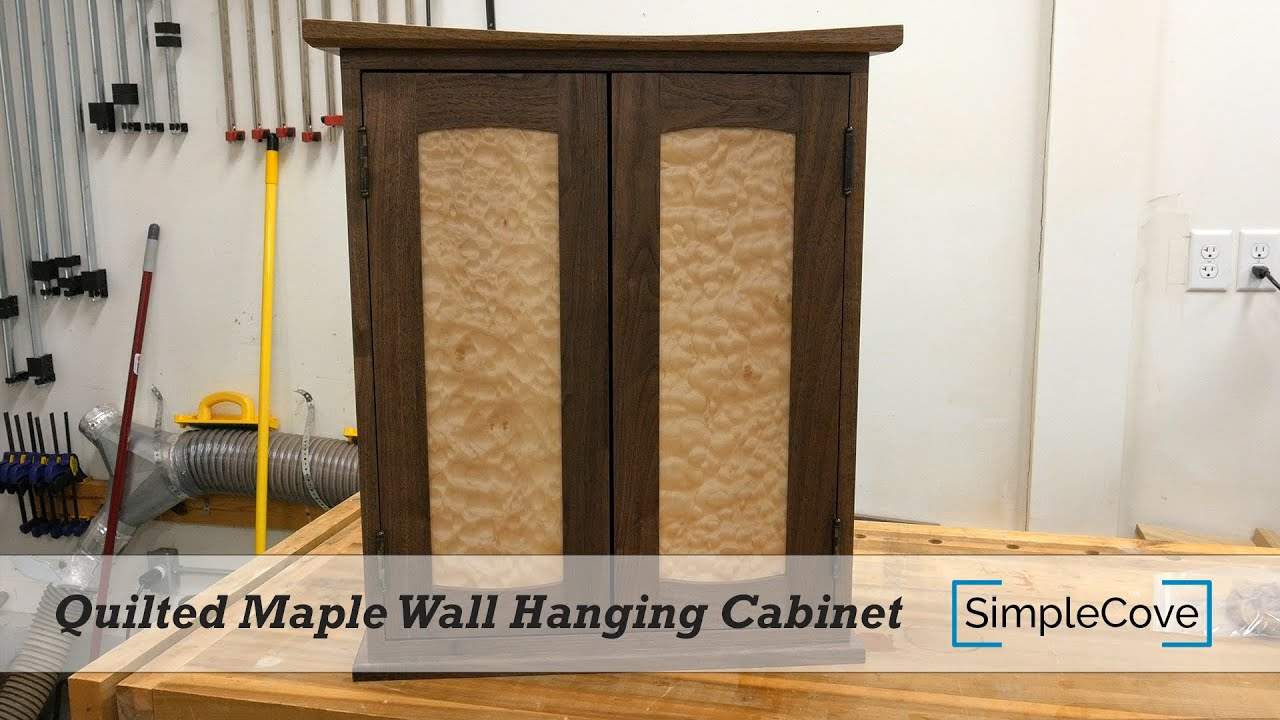 Quilted Maple Wall Hanging Cabinet