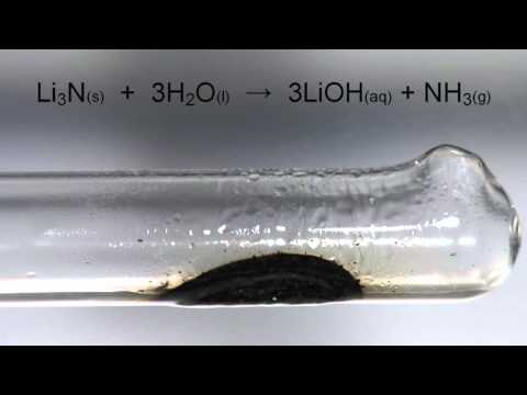 Reaction of Lithium with Nitrogen