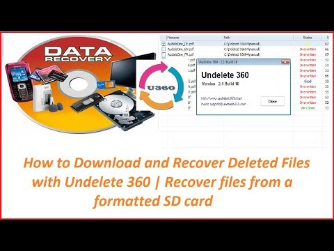 How To Download And Recover Deleted Files With Undelete 360   Recover Files From A Formatted SD Card