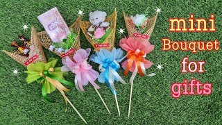 วิธีทำคฑา4แบบน่ารักที่สุด ของขวัญวันวาเลนไทน์ ของขวัญวันปัจฉิม How to make mini bouquet for gift.