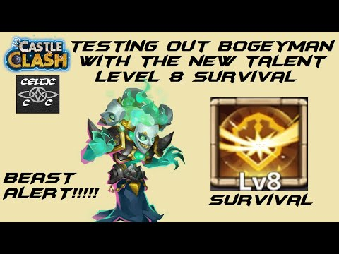 Bogeyman Gameplay With Survival Level 8     Castle Clash