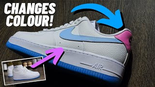 THEY CHANGE COLOUR!? Nike Air Force 1 UV On Feet Review
