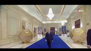 لحظة دخول الرئيس عبد الفتاح السيسي إلي قاعة المؤتمر الوطني للشباب
