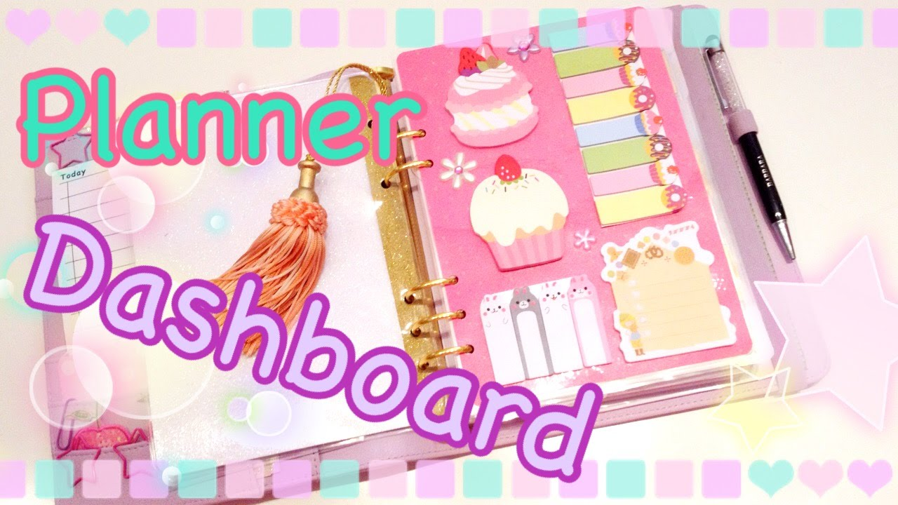 Diy planner dashboard fai da te youtube for What is a planner dashboard
