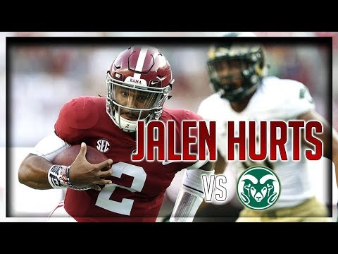 Jalen Hurts Highlights vs Colorado State // 12/17 351 Total Yards, 3 TDs // 9.16.17