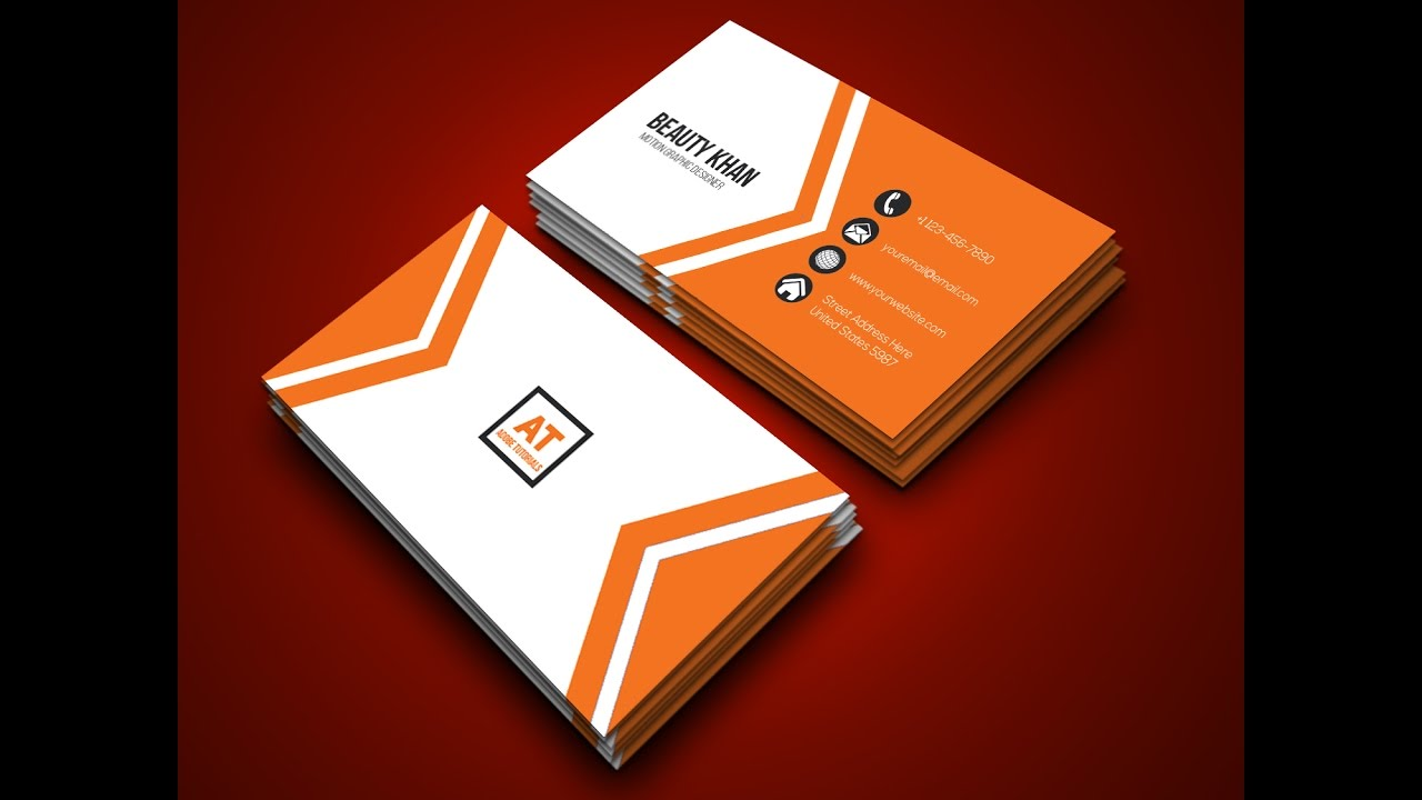 How To Setup A Business Card In Adobe Illustrator. How To Make A ...