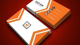 Adobe illustrator cc Tutorial for Beginners | Business Card Design